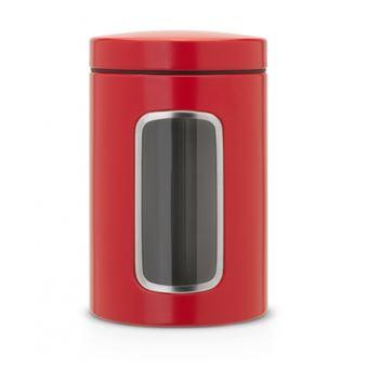 Tarro con ventana Brabantia 1,4 L Rojo