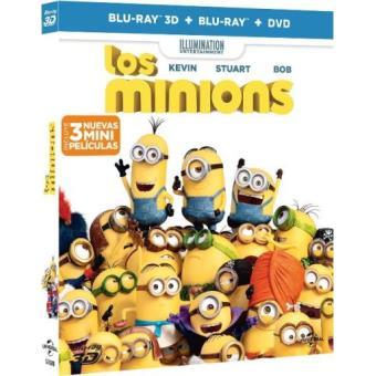 Los Minions - Blu-Ray + Blu-Ray 3D + DVD