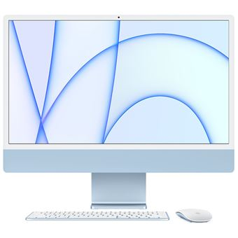 iMac con Pantalla Retina 4.5K 24'' M1 8C/7C 8/256GB Teclado numérico Azul