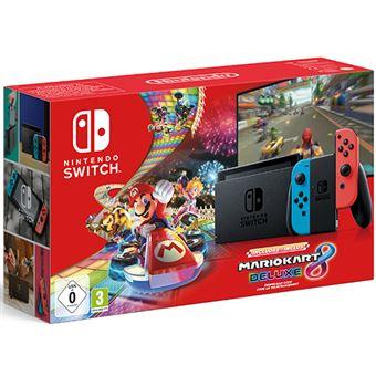 Consola Nintendo Switch Rojo Neón / Azul Neón + Mario Kart 8 Deluxe (descargable