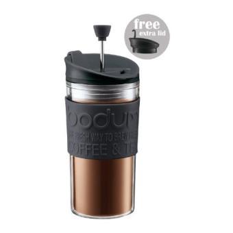 Bodum Travel Press Embolo 0,35L. Color Negro