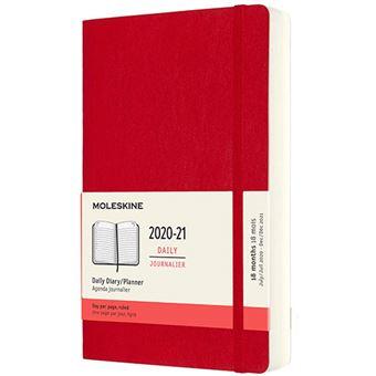 Agenda Moleskine 2020/2021 día por página large tapa blanda rojo escarlata