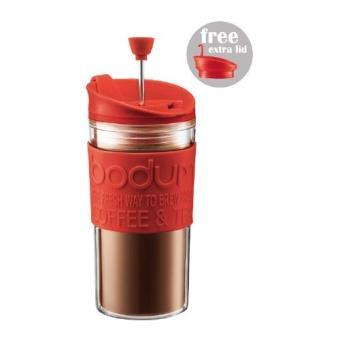 Bodum Travel Press Embolo 0,35L. Color Rojo