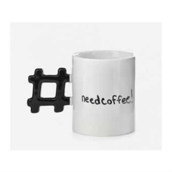 Taza Kikkerland Hashtag Need Coffee!