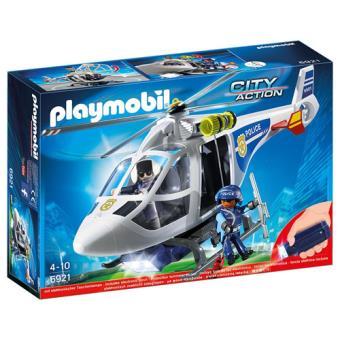 Playmobil City Action Helicóptero de policía con luces LED