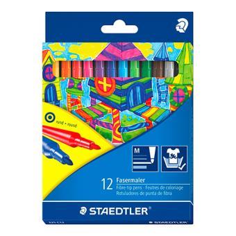 Estuche de 12 rotuladores Staedtler de punta de fibra de colores variados Noris Club 325 C12
