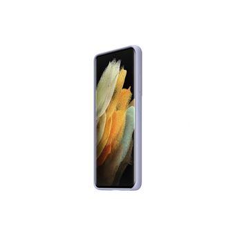 Funda de silicona Samsung Violeta para Galaxy S21 Ultra