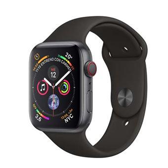 Apple Watch S4 44mm LTE Caja de aluminio en gris espacial y correa deportiva Negra
