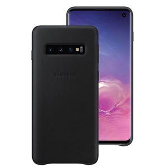 Funda de cuero Samsung para Galaxy S10 Negro