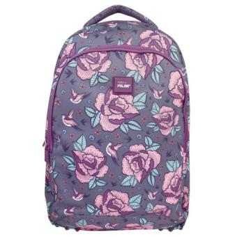 Mochila escolar Milan Flowers Pink