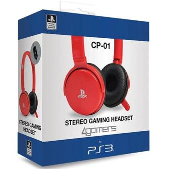 Auricular Estéreo Rojo PS3