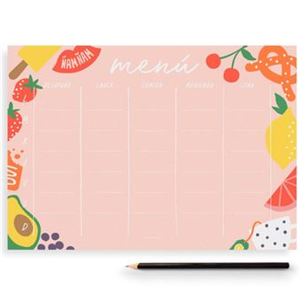 Planificador Charuca Menu Semana Rosa
