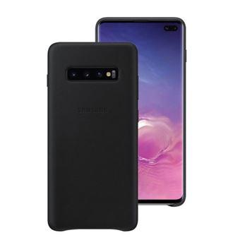 Funda de cuero Samsung para Galaxy S10+ Negro