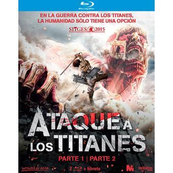 Pack Ataque a los titanes: Parte 1 y 2 - Blu-ray