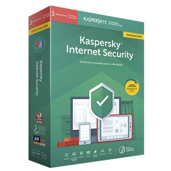 Kaspersky Internet Security 2019 3 Licencias 1 Año Renovación