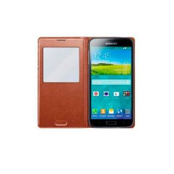Samsung Funda S-View Cover Galaxy S5 - Color Rosa Gold