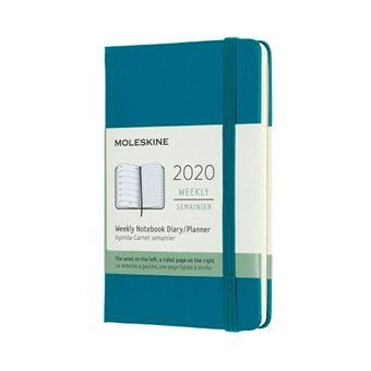 Agenda-cuaderno Moleskine semanal de 12 meses P tapa dura verde magnético