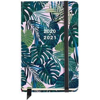 Agenda escolar 2020-2021 Miquelrius Tropical Activa d/p cierre goma verde