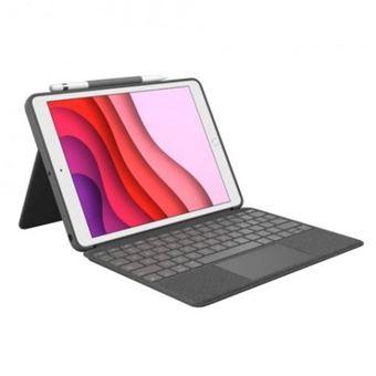 Funda con teclado Logitech Combo Touch Gris para iPad 10,2''