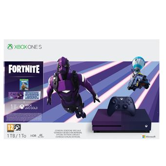 Consola Xbox One S 1TB Morada + Fortnite