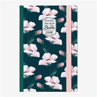 Agenda fotográfica Legami 2019/20 Mediana Semana Vista 18 meses Flowers Bloom