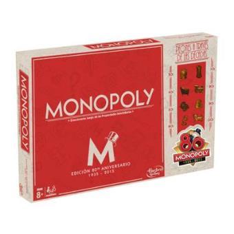 Monopoly 80 Aniversario Juego De Mesa 5 En Libros Fnac
