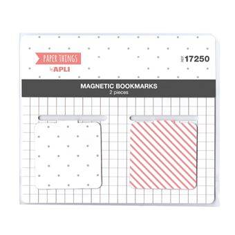 Pack 2 marcadores magnéticos Apli Paper Things Rosa/Gris