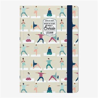 Agenda fotográfica Legami 2019/20 Mediana Semana Vista 18 meses Yoga Lover
