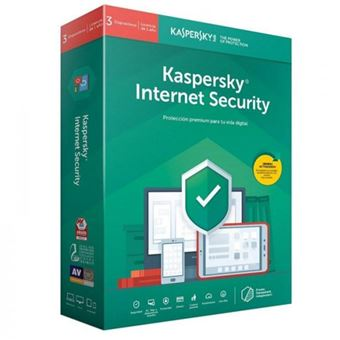 Kaspersky Internet Security 2019 3 Licencias 1 Año