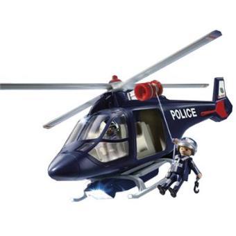 Playmobil City Action: Helicoptero de Policia con Luces LED