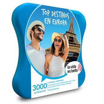 Caja regalo La Vida es Bella Top destinos en Europa