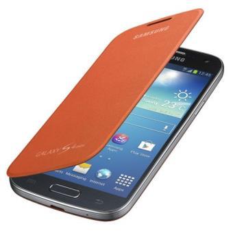 Samsung funda flip cover S4 mini naranja