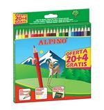 24 Lapices Alpino Wf 20+4