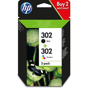 Cartucho de tinta HP 302 Negro/Tri-color Pack - Exclusivo web