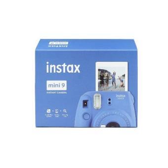 Cámara instantánea Fujifilm Instax Mini 9 Azul Cobalto + 10 fotografías Kit