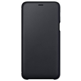 Funda Samsung Wallet Negro para Galaxy A6 Plus