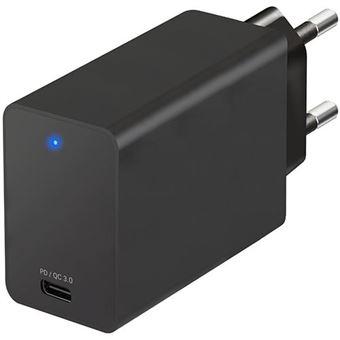 Cargador Temium USB-C PD 18 W Negro