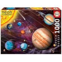 Puzzle Sistema Solar Neón 1000 piezas