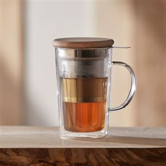 Taza para infusiones doble pared Edo 390 ml