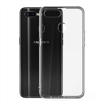 Funda Muvit Cristal Soft Transparente + Protector de pantalla Cristal templado Marco negro para OPPO AX7