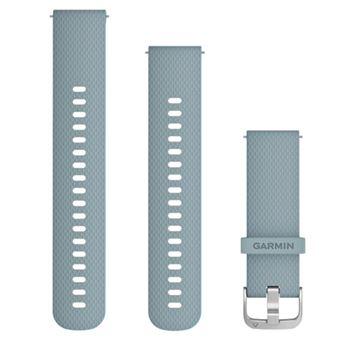 Correa de silicona 20 mm Garmin Azul/Plata para Vivomove HR