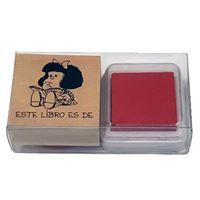 Sello Exlibris Mafalda - Este libro pertenece a