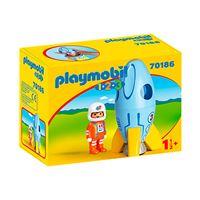 Playmobil 1.2.3 Astronauta con cohete