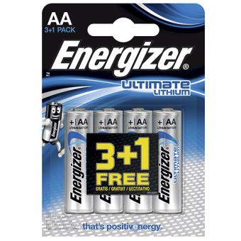 Energizer Pack Litio 3+1 Pilas AA