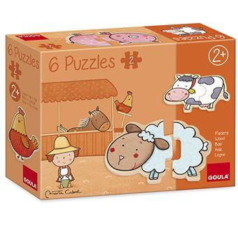Puzzle madera La granja de Carla