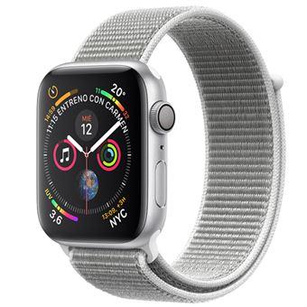 Apple Watch S4 44mm Caja de aluminio en plata y correa Loop deportiva en color Nácar