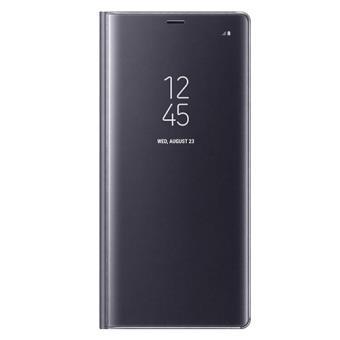 Funda Samsung Clear View Standing Cover Gris Orquídea para Galaxy Note8
