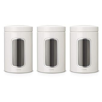 Tarros con ventana Brabantia 1,4 L Blanco Kit