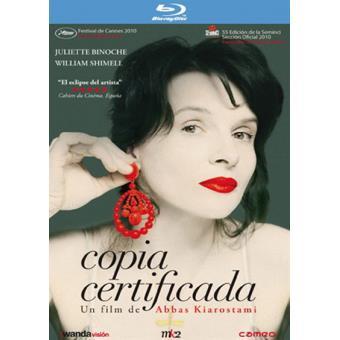 Copia certificada - Blu-Ray