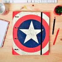 Carpeta Marvel Capitán América 4 anillas troquelada
